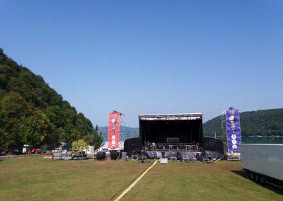 Banderole bâche grand format scène festival